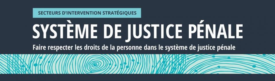 Secteurs d'intervention stratégiques: Système de justice pénale: Faire respecter les droits de la personne dans le système de justice pénale